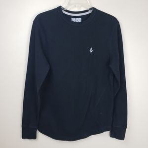 Volcom Black Thermal Shirt   M